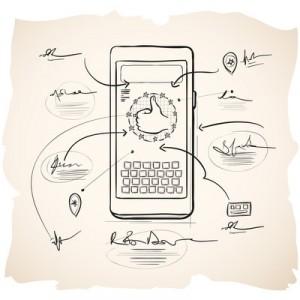 400 x 400 Phone Sketch