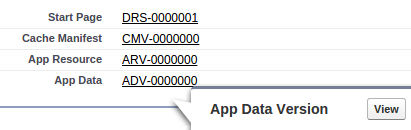 Screenshot Viewing App Data Version