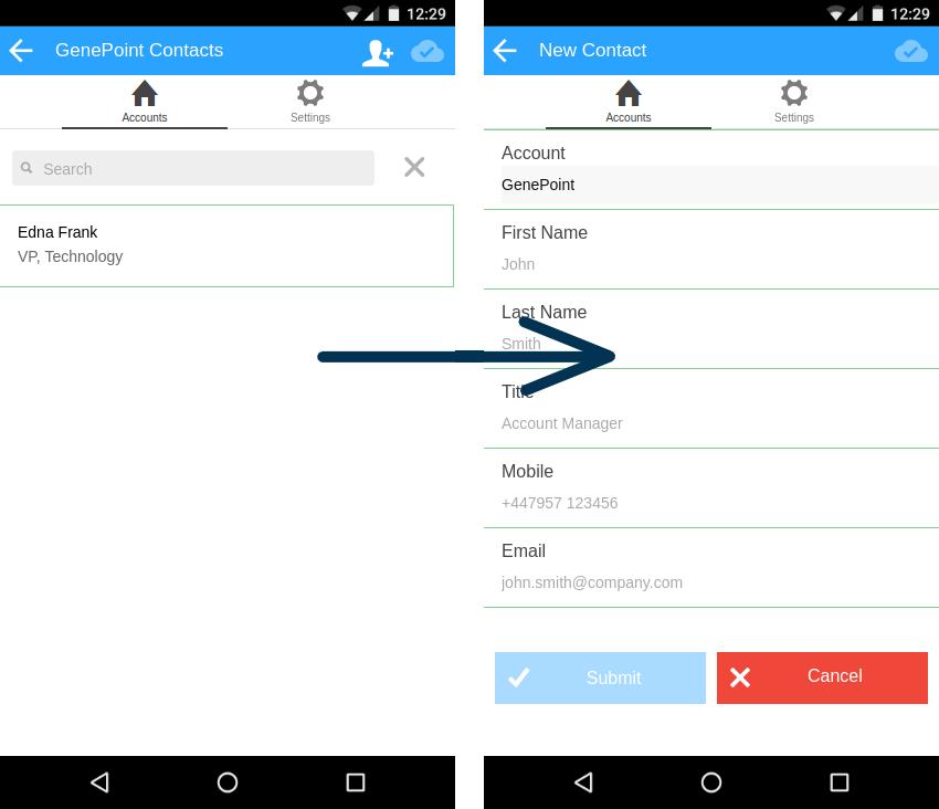 Adding a New Contact - MobileCaddy DevelopersMobileCaddy Developers