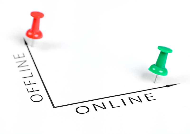 Offline and Online chart