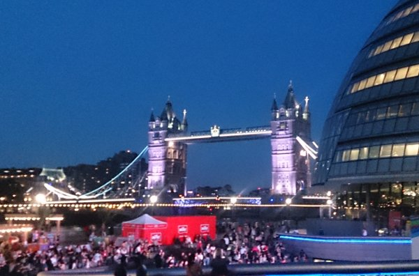 View of London Bridge from outside the meetup