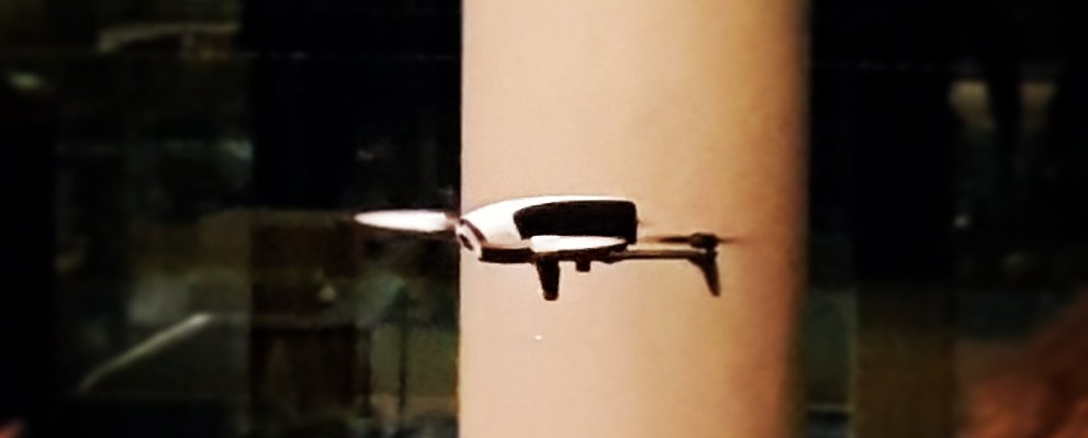 A drone being flown from Salesforce