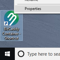 Windows Shortcut Context Menu