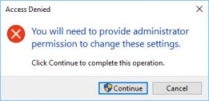 Windows Confirmation Box